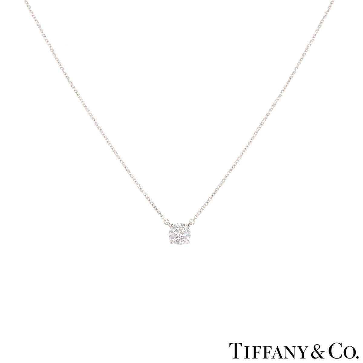 Tiffany & Co. Platinum Diamond Pendant 0.94ct E/VVS2